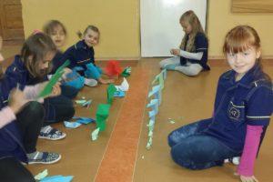 Zajęcia origami w klasie 1c
