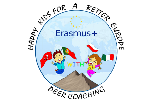 Obrazek wyróżniający projektu Erasmus+ - Happy kids for a better Europe Peer coaching